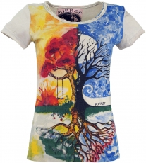 Mirror T-Shirt - Tree of Life / beige