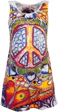 Mirror Tank Top, Longshirt, Minikleid - Peace / weiß