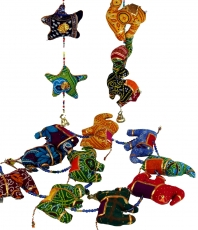 Mobile stuffed animal necklace from India - Elephant/Star/Camel