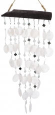 Shell Mobile, Ethno Windspiel, Suncatcher - white