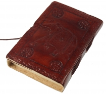 Notebook, leather book, diary cover `Elefant` 9*12 cm