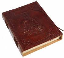 Notebook, leather book, diarycover `Budha` 12*15 cm