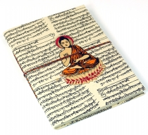 Notebook, diary, notebook, writing book made of Lokta paper Buddh..