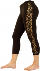 3/4 Psytrance, Goa Ladies Leggings, Festival Party Pants with Lac..