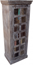 Cupboard, side cupboard, chest of drawers with old block printing..