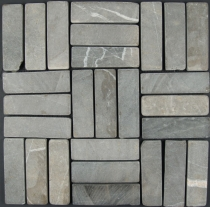 Strips mosaic tiles in marble (P-06) - Design 10