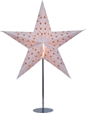 Stand for foldable Advent illuminated paper star, poinsettia stai..