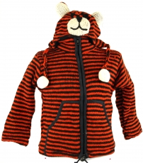 Strickjacke aus Wolle Tiger