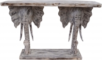 Sideboard of carved elephant heads