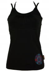 Top-Yoga, Yoga Tanktop, Embroidered Yogatop Mandala - black