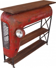 Tractor shelf/sideboard with wooden plate - model 1
