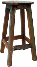 Vintage recycled wood bar stool - Model 3