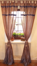 Curtain, curtain (1 pair of curtains) - blue/grey