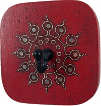 Wall hook `Bagru`-Sun` 4 colours