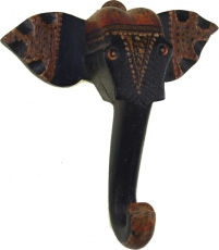 Elephant wall hook made of wood