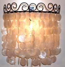 Wall Lamp/Wall Lamp Concha, shell lamp made of hundreds of capiz,..