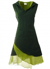 Diaper tunic, elfin tunic with pointed hood MA 11 - green