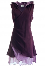 Diaper tunic, elfin tunic with pointed hood MA 11 - plum