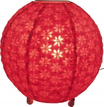 Corona round round Lokta paper table lamp/table lamp 25 cm - red