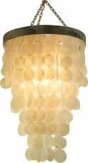 Ceiling Lamp/Ceiling Lamp, Shell Lamp made of hundreds of capiz, ..