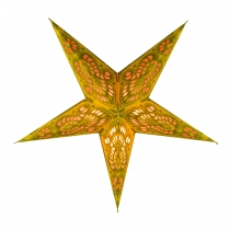Foldable Advent illuminated paper star, Poinsettia 40 cm - Menor ..