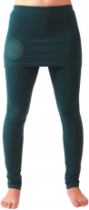 Yoga trousers, leggings with mini skirt Bio BW Yogi - emerald
