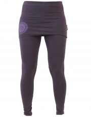 Yoga Pants Organic Cotton Yogi - plum