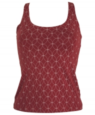 Yoga-Top Organic Cotton Flower of life - berry