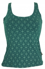 Yoga Top Organic Cotton Flower of life - emerald