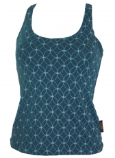Yoga-Top Organic Cotton Flower of life - orion blue