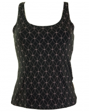 Yoga-Top Organic Cotton Flower of life - black
