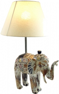 Table Lamp/Table Lamp, handmade in Bali from natural material - Model Elephant - 55x38x30 cm