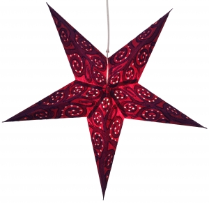 Foldable Advent illuminated paper star, Poinsettia 60 cm - Artemis purple