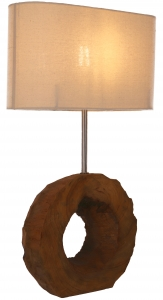 Table Lamp/Table Lamp, handmade in Bali from natural material - Model Palau 1 - 59x35x15 cm
