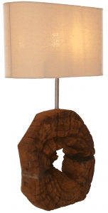 Table lamp/table lamp, handmade in Bali from natural material - model Palau 2 - 59x35x15 cm
