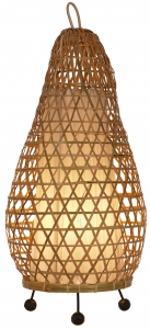 Table Lamp/Table Lamp, handmade in Bali from natural material - Model Hermigua 50cm