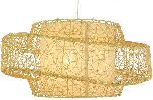 Ceiling lamp/ceiling lamp, handmade in Bali from natural material, rattan - Model Tonga - 28x57x57 cm Ø57 cm