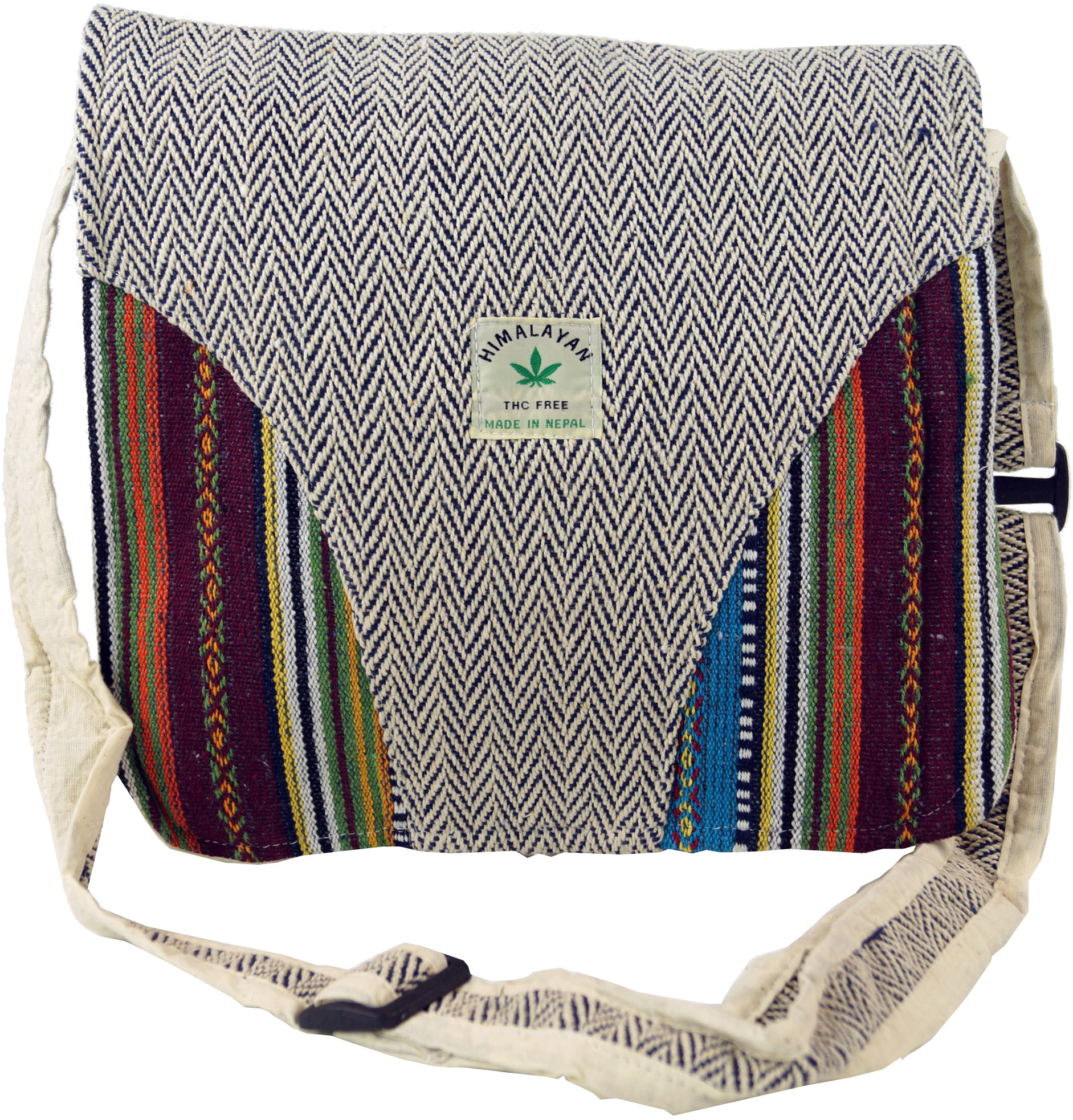 Hemp Shoulder Bag, Ethno Nepal Bag Hemp Bag 3 30x30x10 cm