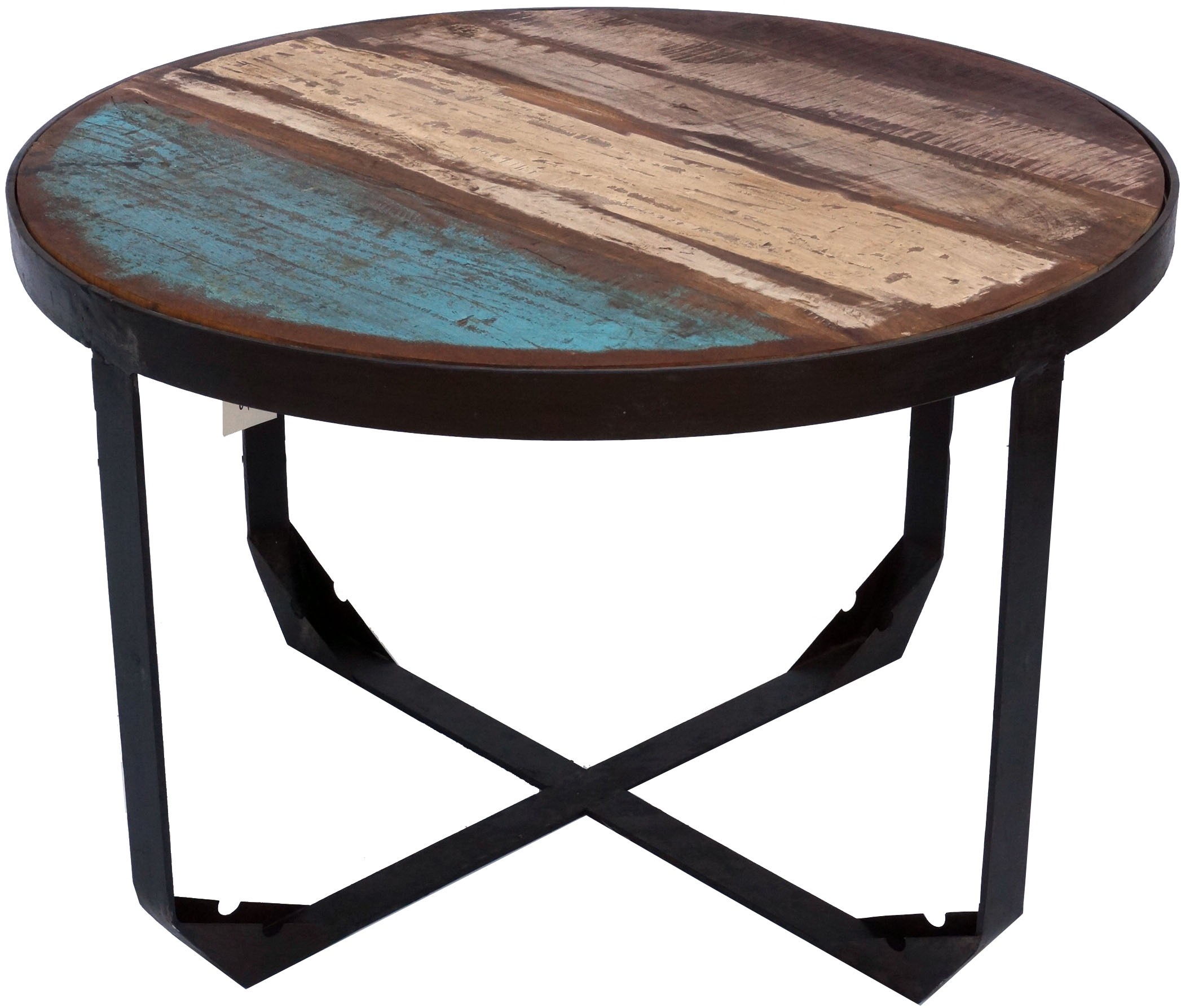 - Vintage Coffee Table, Coffee Table Made Of Metal And Recycled Wood