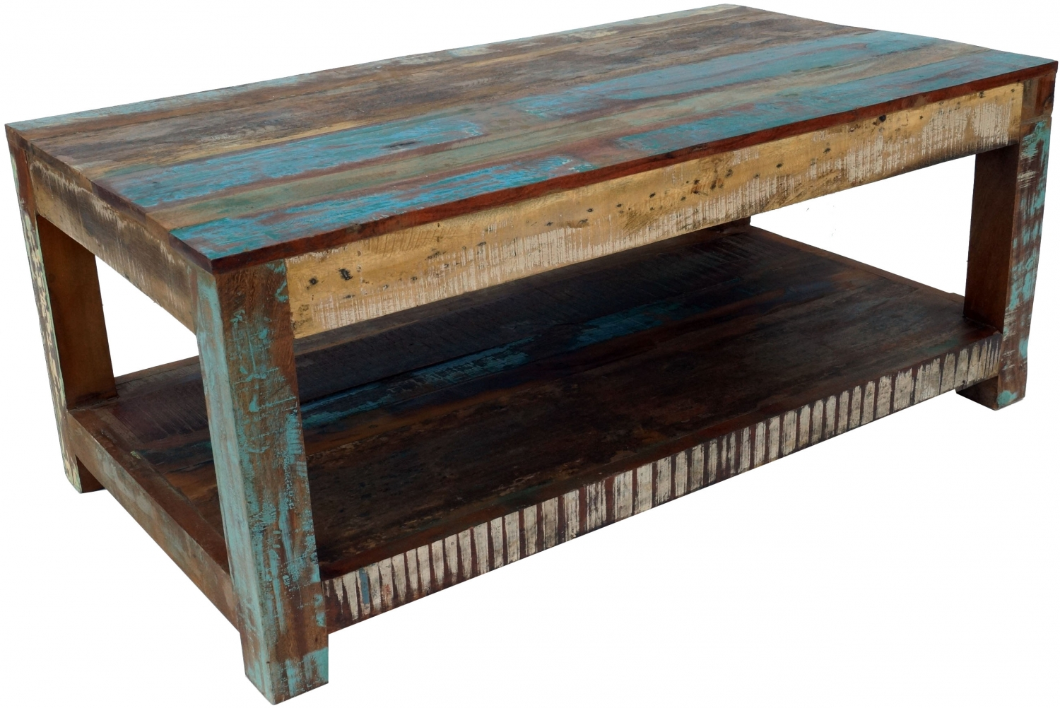 - Vintage Coffee Table, Coffee Table Made Of Recycled Wood - Model 3